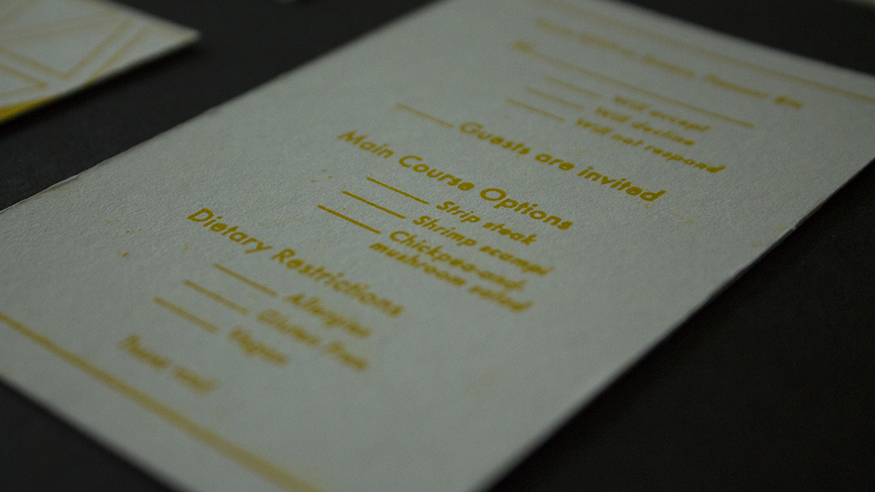 87th Academy Awards Letterpress Invitation